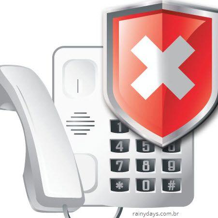 Bloquear telefone para ligações telemarketing ES Espírito Santo