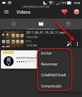 galeria AZ Gravador de Tela Android vídeos