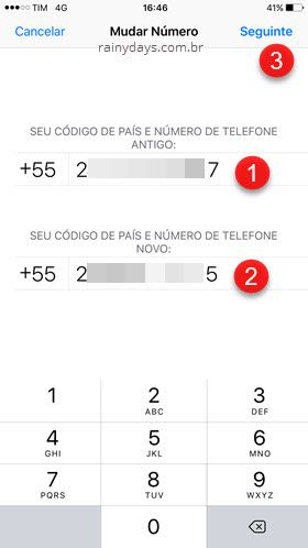 Trocar número de telefone no WhatsApp