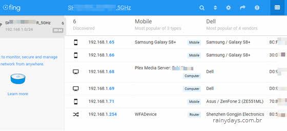 Ver dispositivos conectados no WiFi pelo Android ou iOS