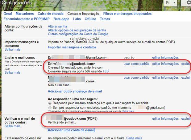 Verificar emails de outras contas no Gmail e enviar email