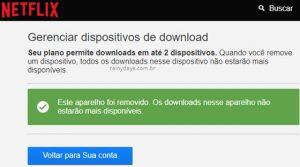 Remover dispositivo de download no Netflix