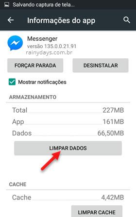 Como sair do Messenger no Android