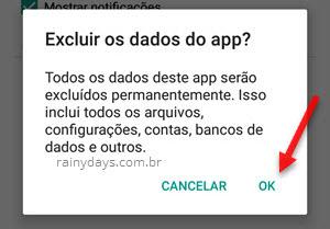 Fazer logout do Messenger no Android