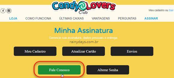 Minha Assinatura Fale Conosco Candy Lovers Club