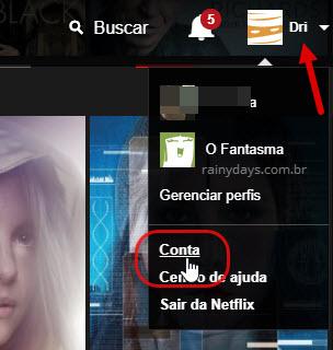 Setinha conta Netflix