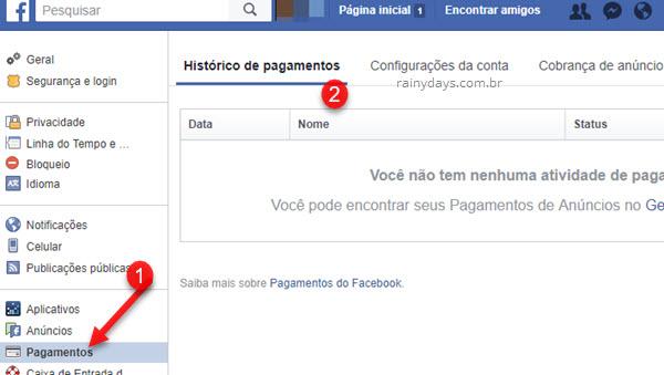 Como solicitar reembolso ou cancelar compra no Facebook