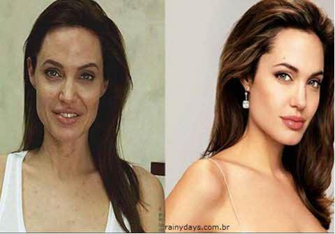 Angelina Jolie sem maquiagem