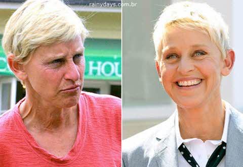 Ellen DeGeneres sem maquiagem