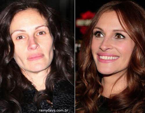 Julia Roberts sem maquiagem