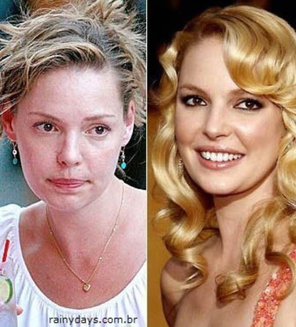 Katherine Heigl sem maquiagem