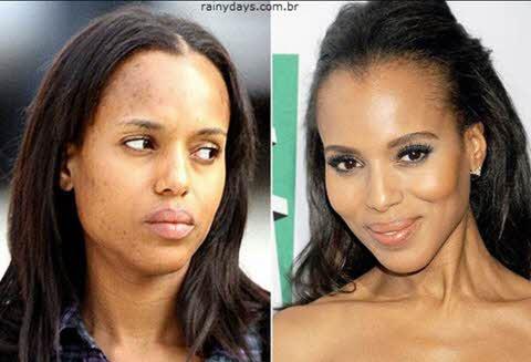 Kerry Washington sem maquiagem