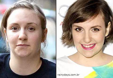 Lena Dunham sem maquiagem