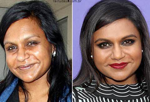 Mindy Kaling sem maquiagem