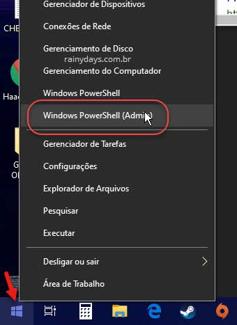Usar o Windows PowerShell para corrigir erro da barra de pesquisa do Windows