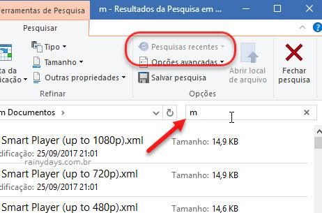 Busca Explorador de Arquivos Windows