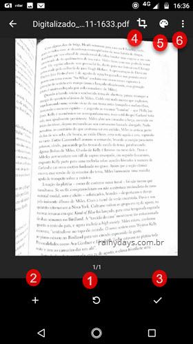 Digitalizar documentos no app Google Drive Android