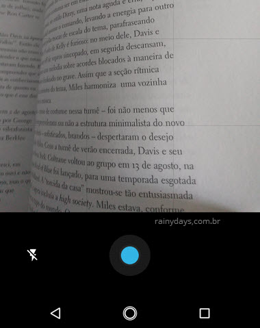 Escanear documento com aplicativo Google Drive