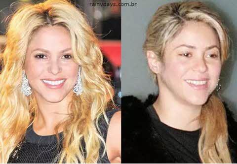 Shakira sem maquiagem