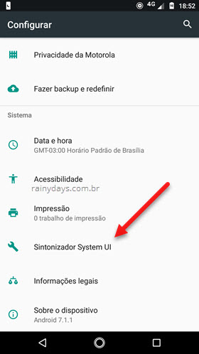 Sintoniizar System UI Android Nougat Oreo