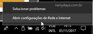 Abrir configuraçÕes de rede e internet Windows para ver senha Wi-FI