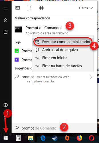 Abrir Prompt de Comando como administrador Windows