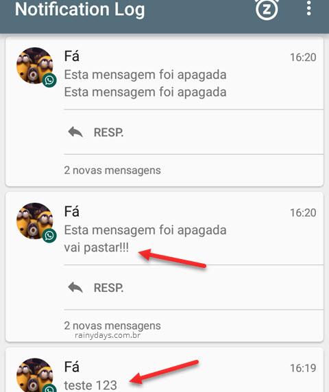 Como ver mensagens apagadas do WhatsApp no Android