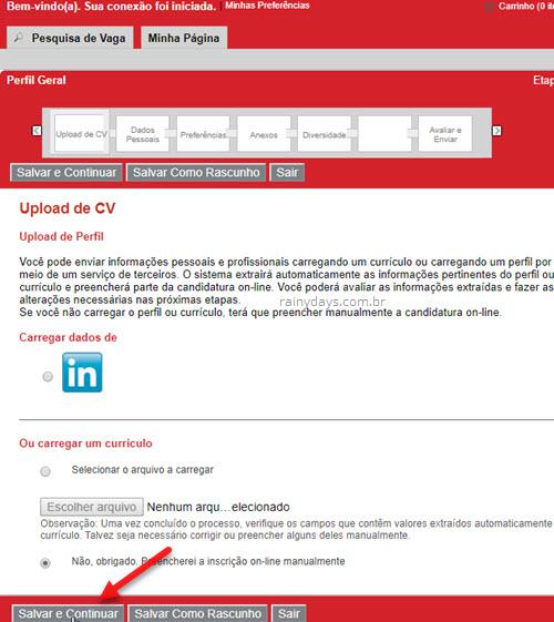 Enviar currículo para emprego Groupe SEB Arno
