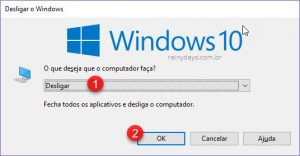 Como desligar Windows com comando do teclado