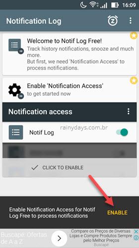 Notif Log notification histpry app Android