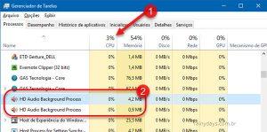 Realtek HD Audio Background Process consumindo muita CPU