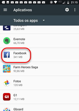 Todos apps Facebook Android