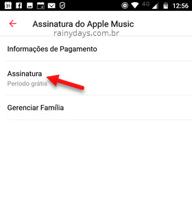 Assinatura Apple Music Android