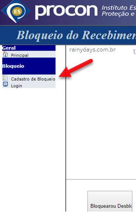cadastrar bloqueio telemarketing Procon Espírito Santo