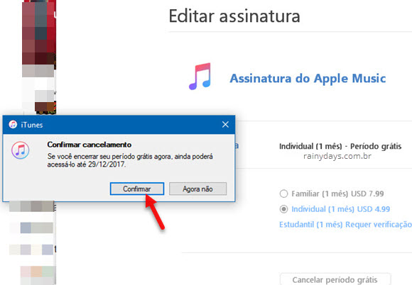 Como cancelar Apple Music PC Android iPhone