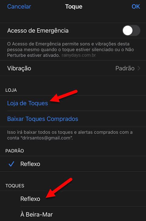 Como personalizar toque para contato no iPhone, loja ou padrão