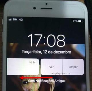 deslizar para esquerda notificação Gmail Ler ou Limpar