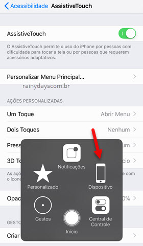 Dispositivo Assistive Touch iPhone