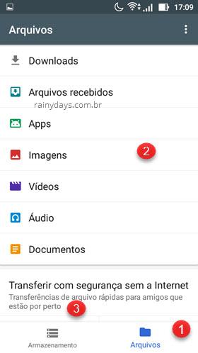Gerenciar arquivos e transferir sem internet Files Go Android