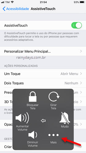 ícone Mais Assistive Touch iPhone