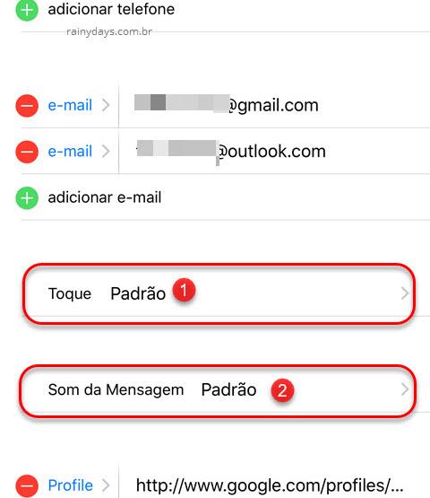 Personalizar toque para cada contato no iPhone