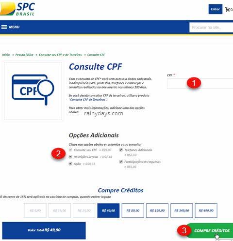 Como consultar CPF no SPC grátis