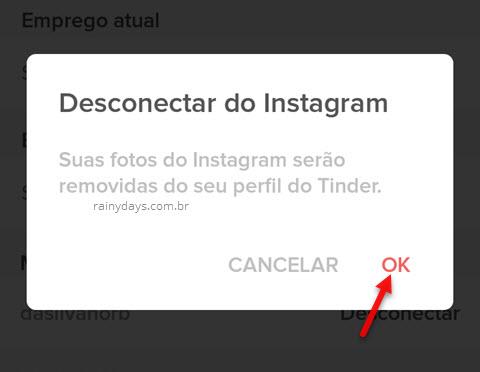 Como desvincular o Instagram do Tinder