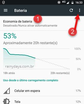 Economia de bateria Android