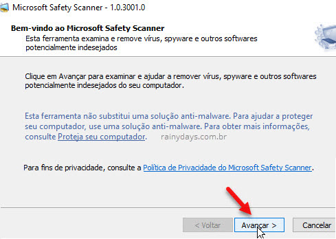 MIcrosoft Safety Scanner malware Windows