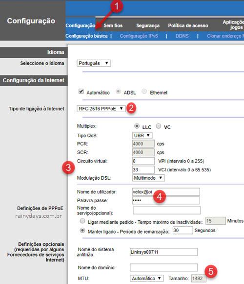 Configurar Linksys X1000 com Velox ou outras