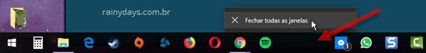 espaços vazios na barra de tarefas ícones programas desinstalados