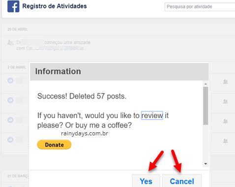 apagar posts em lote no Facebook Social Book Post Manager