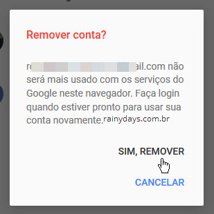 Como remover contas do Google salvas no navegador