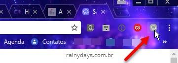 ícone Samsung Internet no Chrome